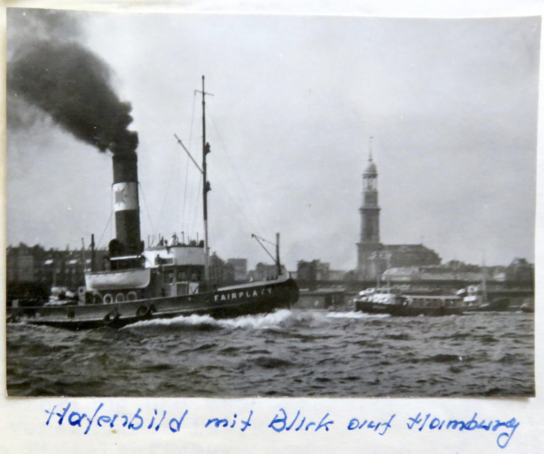 1957 photo taken by Horst Klein of Hamburg Harbour